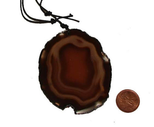 Large Natural Agate Pendant