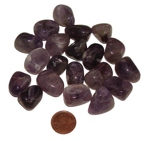 Tumbled Chevron Amethyst Stones, size small