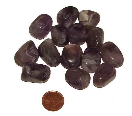 Tumbled Chevron Amethyst Stones, size medium