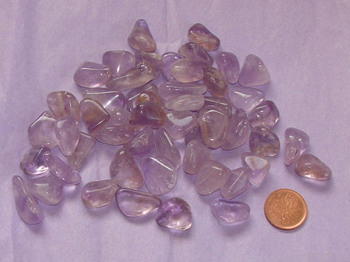 Loose Tumbled Amethyst Stones from Brazil, size teeny, 2 grams