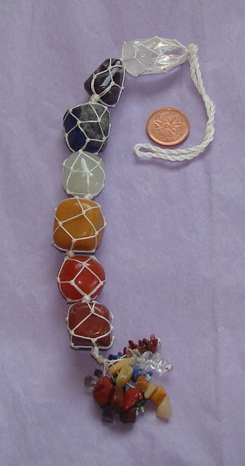7 Chakra Stone Hanging Wall or Window Ornament