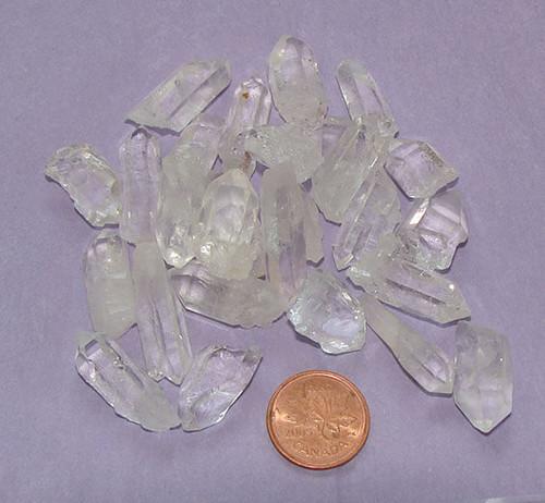 Clear Quartz Points from Brazil, size teeny tiny