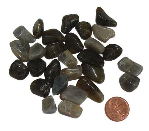 Tumbled Stone Labradorite, size teeny 2 grams