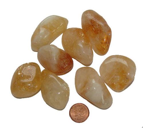Loose Tumbled Citrine Stones, size xxx large