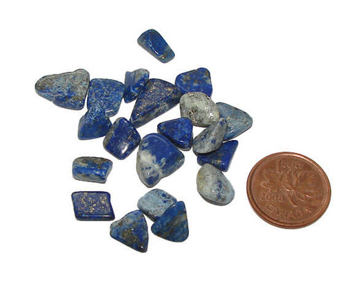 Tumbled Lapis Lazuli Stones, 10 gram package of 15 to 20 pieces