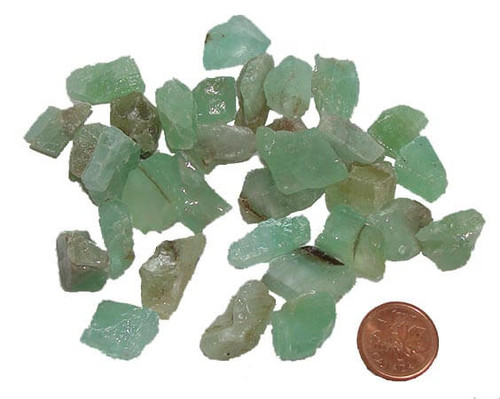 Natural Green Calcite stones, size teeny 2 grams