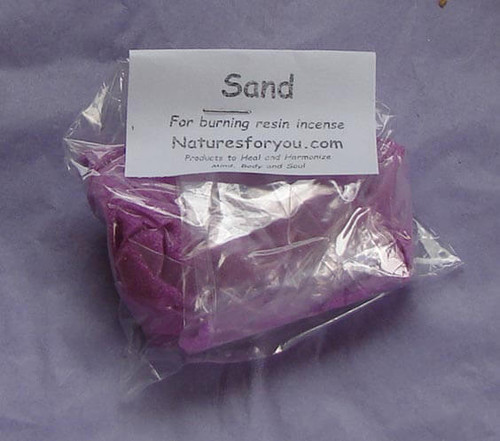 Purple sand for incense