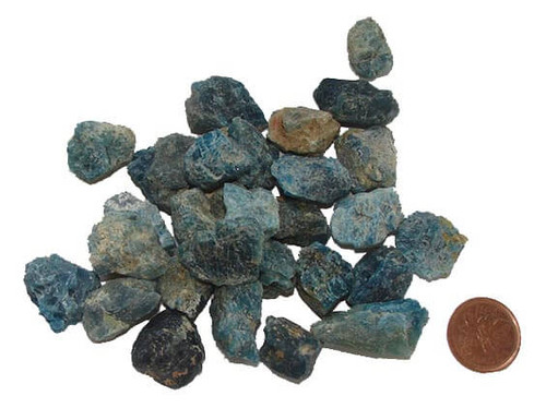 Rough Blue Apatite Stone, size extra small