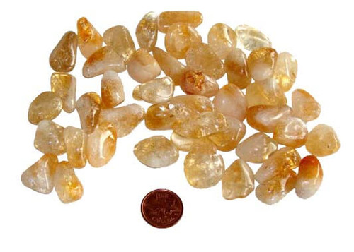 Citrine tumbled stones - size small