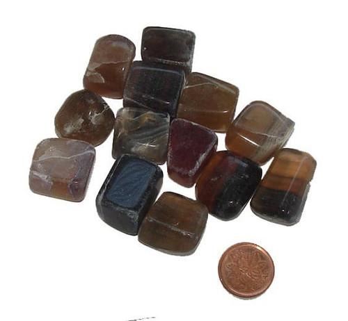Tumbled Mixed Fluorite stones - size medium