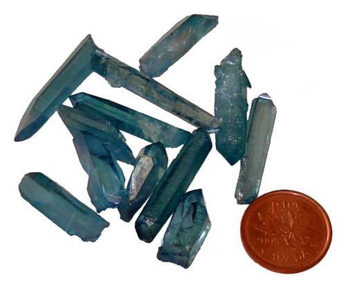 Aqua Aura crystal points - 1 gram