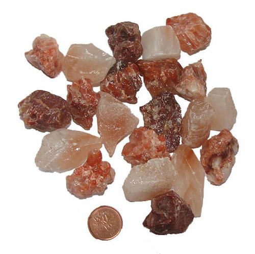 Raw Red Calcite Stones - size Medium