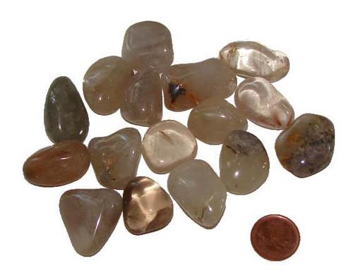 Tumbled Rutilated Quartz stones - size medium