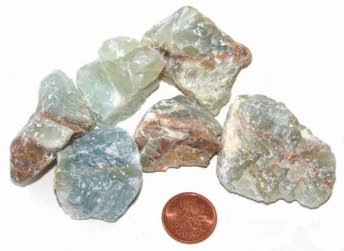 Raw Blue Onyx Stones - size large