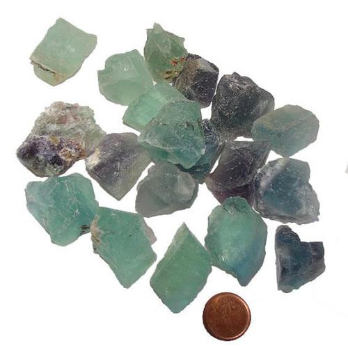 Rough Fluorite Stones - size medium