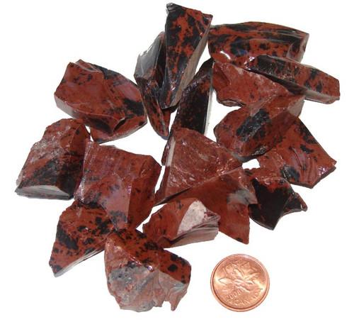 Raw Mahogany Obsidian stones - size small