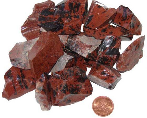 Rough Mahogany Obsidian Stones - size medium