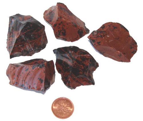 Raw Mahogany Obsidian Stones - size large