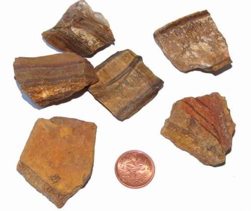 Gold Tigers Eye rough stones - size medium