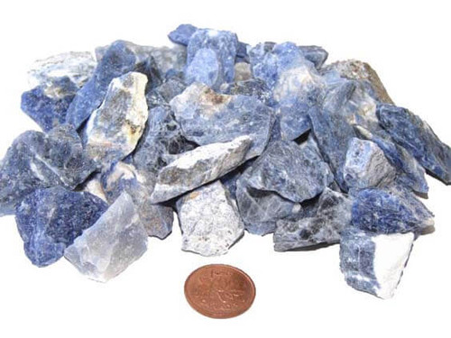 Sodalite rough stones - size small