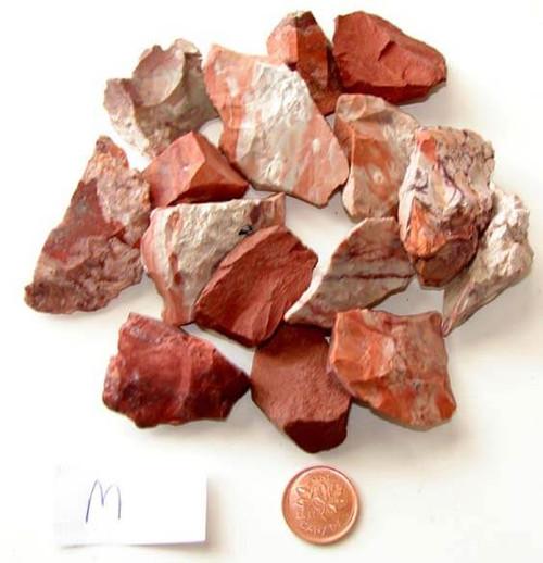Rough Red Jasper Stones - Medium