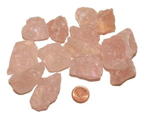 Raw Rose Quartz Stones - Size Extra Large