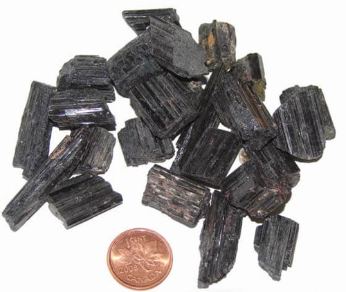 Black Tourmaline Crystal Rods - extra small