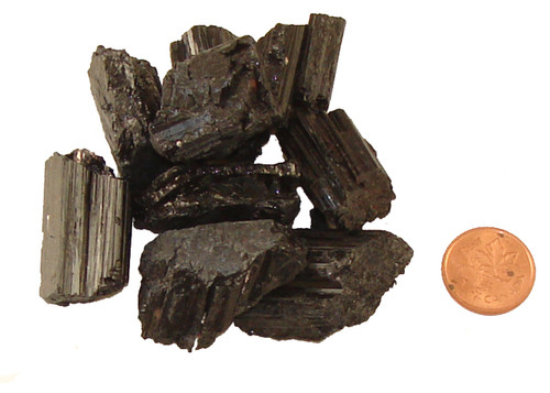 Black Tourmaline Stones - Crystal Rods - Medium