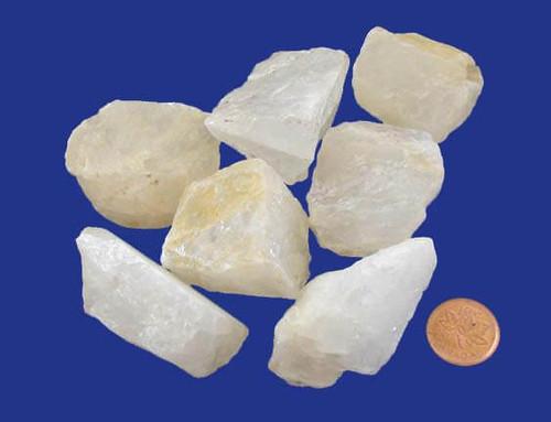 Milky Quartz raw stones - size extra large