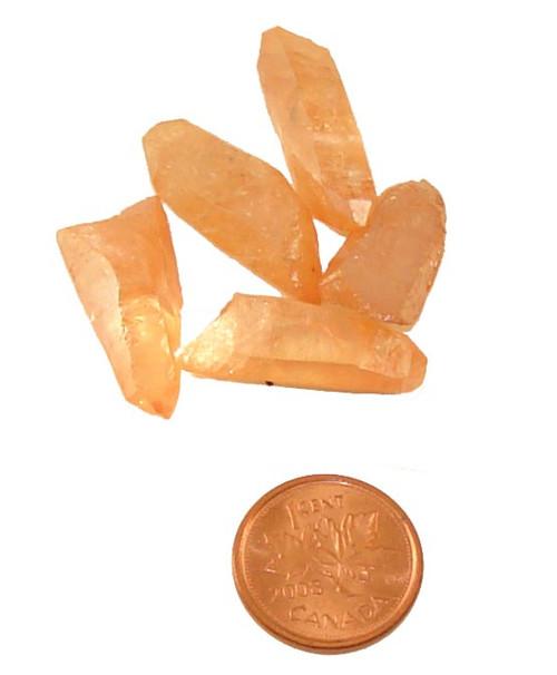 Tangerine Aura Quartz Points - 2 grams