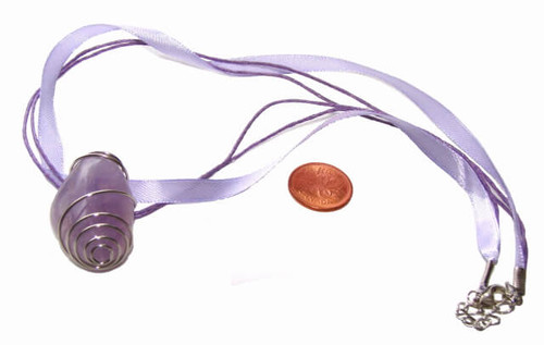 Lavender silk jewelry cord with lobster clasp