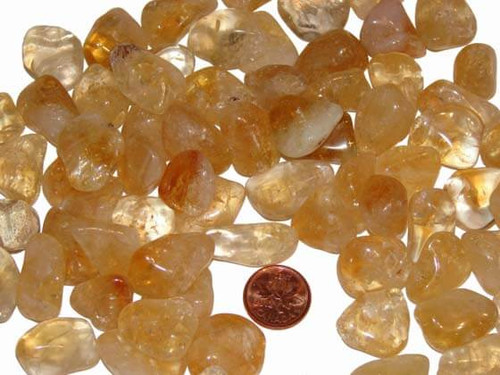 Citrine tumbled stones - size medium
