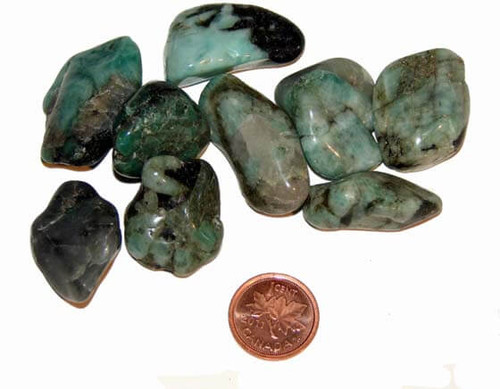 Tumbled Emerald Stones - size medium