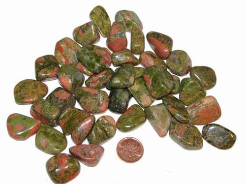 Tumbled Unakite stones - size small