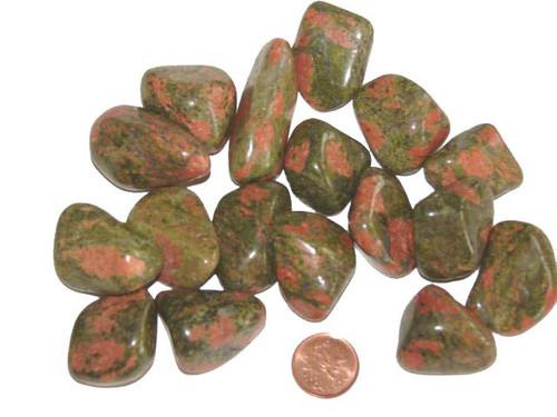 Tumbled Unakite stones - size large
