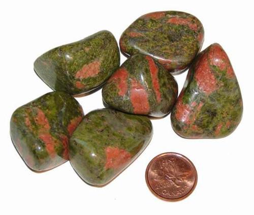 Tumbled Unakite Stones - size extra large
