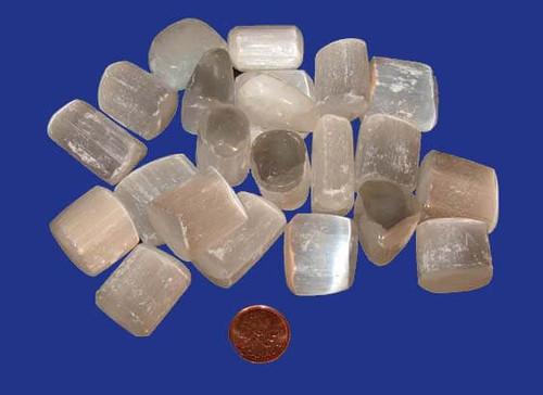 Tumbled Selenite stones - size medium