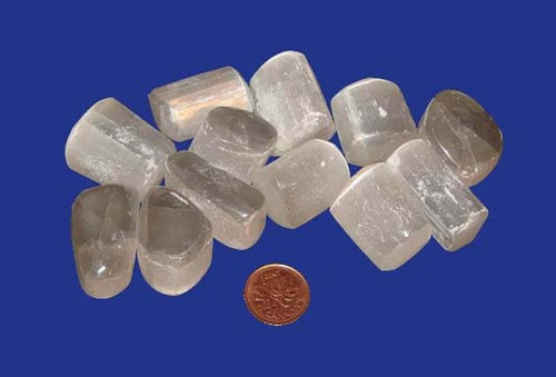 Tumbled Selenite stones - size large