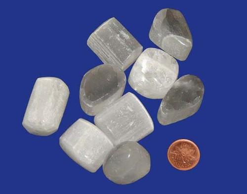 Tumbled Selenite Stones - size extra large