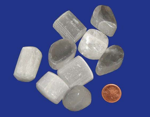 Tumbled Selenite Stones - size extra large