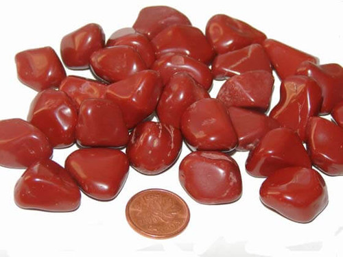 Tumbled Red Jasper stones - size medium