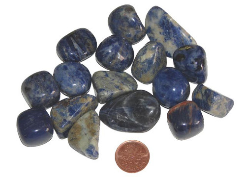 Tumbled Sodalite stones - size medium