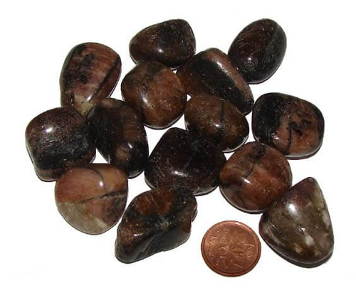 Tumbled Chiastolite stones - size medium