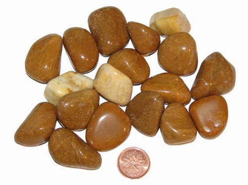 Tumbled Yellow Jasper Stones - size medium