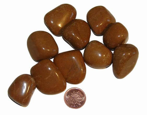 Tumbled Yellow Jasper Stones - large