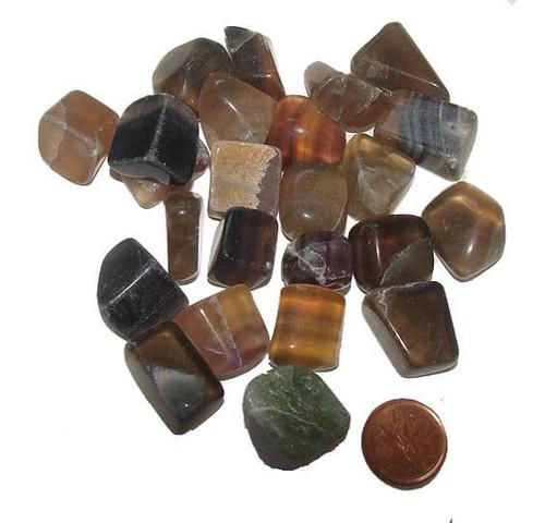 Tumbled Mixed Fluorite stones - size small