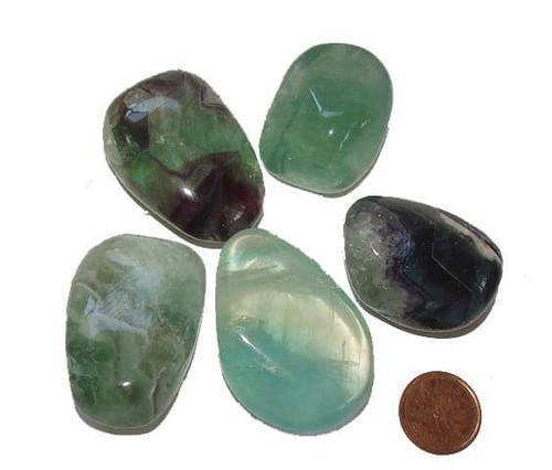 Mixed Fluorite Tumbled Stones, Extra Quality, Large
