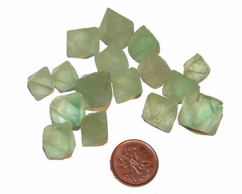 Green Fluorite Octahedrons