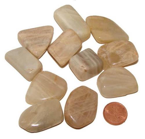 Tumbled Moonstone stones - size Large