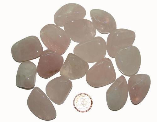 Tumbled Rose Quartz stones - size large